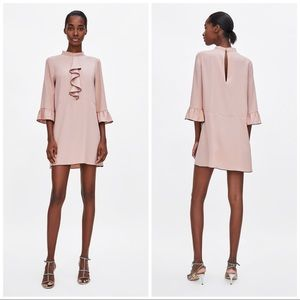 Zara Dress With Contrasting Ruffles